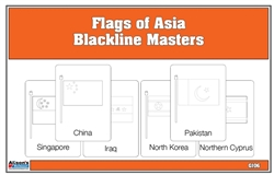 Flags of Asia Blackline Masters Three Part Cards