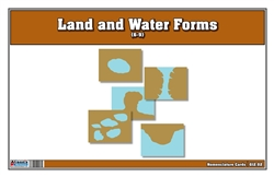 Land and Water Forms Nomenclature Cards 6-9 (Printed)