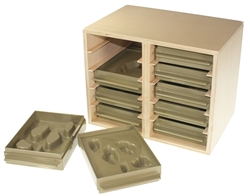 Cabinet for the Land and Water Form Trays
