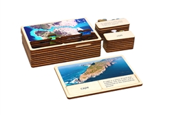 Geography Classified: Land and Water Forms Wooden Cards