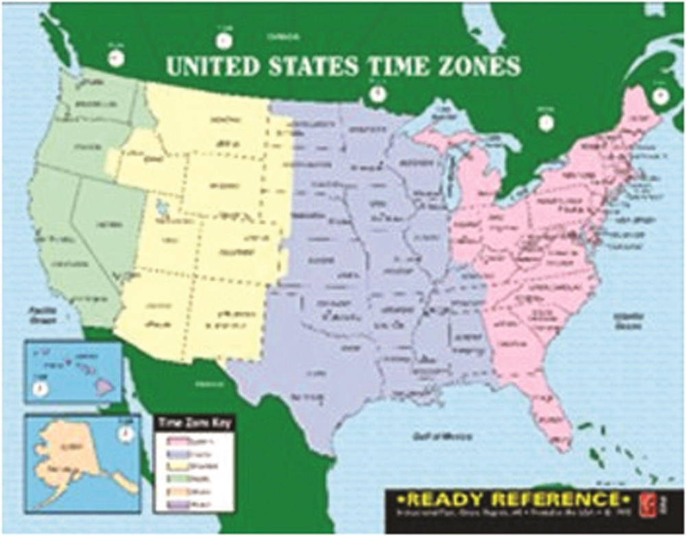 Map Of Us Time Zones With The State Names U.S. & World Maps with Time Zones