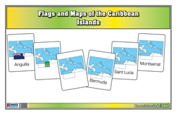 Flags and Maps of Caribbean Islands (Printed)