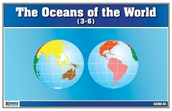 The Oceans of the World (Nomenclature Cards)