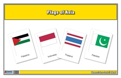 Flags of Asia Three Part Cards (Printed)