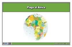 Flags of Africa Three Part Cards (Printed)