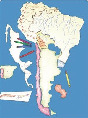 Montessori materials spanish speaking countries puzzle map spanish speaking countries puzzle map gumiabroncs Gallery