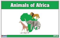 Animals of Africa Nomenclature Cards (Printed)