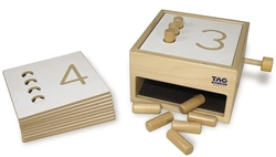 Tumble Down Counting Pegs Box