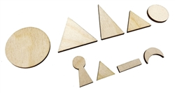 Wooden Parts of Speech Shapes