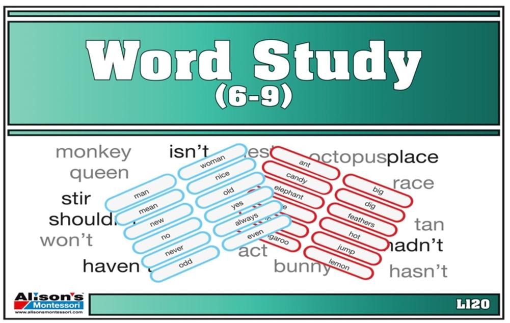 montessori materials word study 6 9