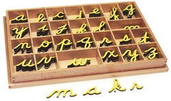Small Movable Alphabets: Yellow, Cursive
