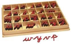 Small Movable Alphabets: Red, Cursive