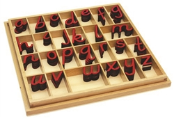 Small Movable Alphabets: Red, D'nealian