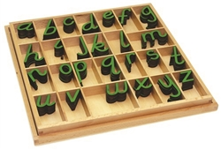 Small Movable Alphabets: Green, D'nealian