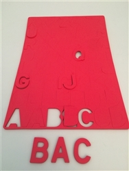 Uppercase Foam Letters with Magnetic Backingrs