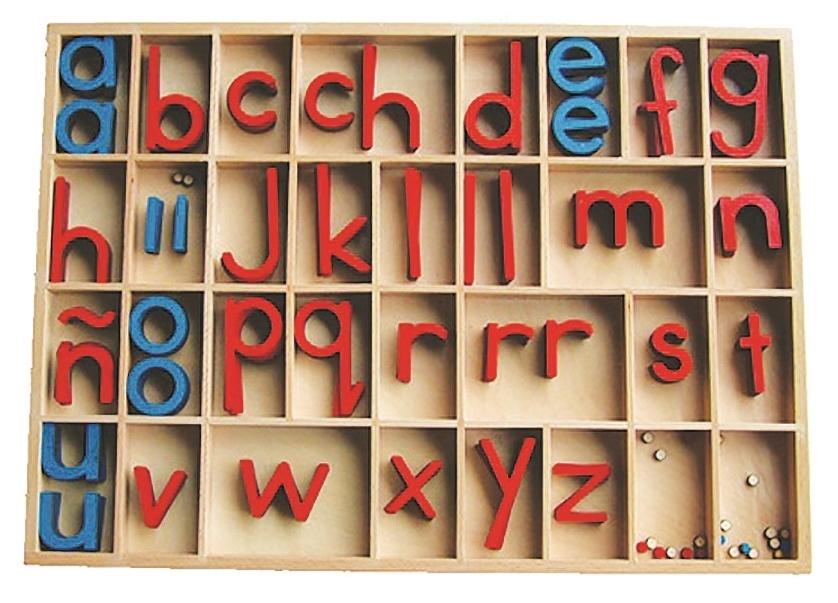 spanish montessori materials  spanish movable alphabet