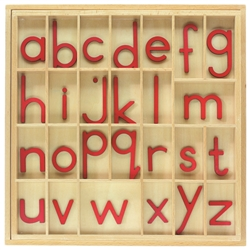 Red Small Movable Alphabets With Box