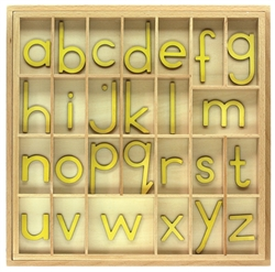 Yellow Small Movable Alphabets With Box