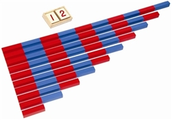 Blue and Red Number Rods