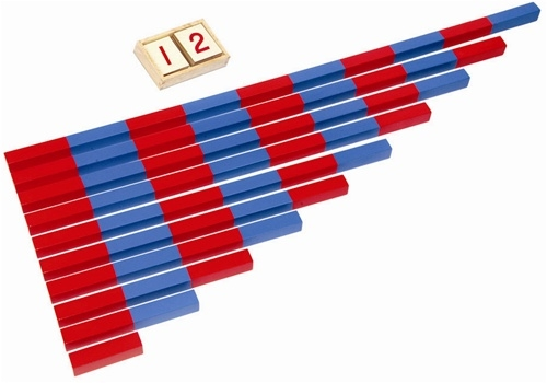 Montessori Materials Blue And Red Number Rods