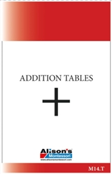 Addition Tables (Printed)