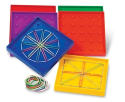 Double-Sided Geoboard Group Set