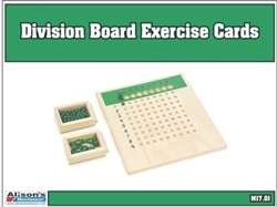 Division Board Exercise Cards (Printed)