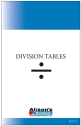 Division Tables (Printed)