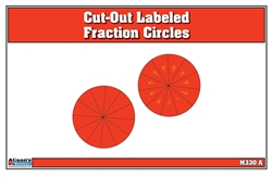 Cut-Out Labeled Fraction Circles (11-20)