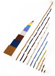 Montessori Materials: Short Bead Chains with Squares