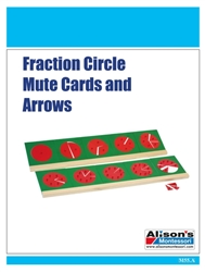 Fraction Circle Mute Cards and Arrows (Printed)