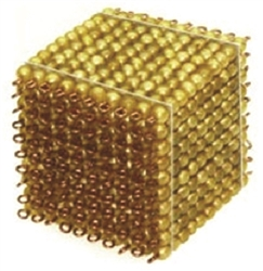 Golden Bead 1000 Cube Thousand Cube