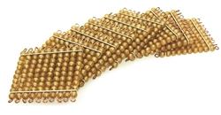 Golden Bead 100 Squares