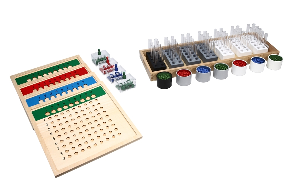 montessori materials  long division material