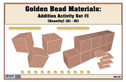 Golden Bead Materials (Quantity) Addition Activity Set #1 (1A-1D)