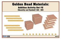 Golden Bead Materials (Quantity and Symbol) Addition Activity Set #2 (2A-2D)