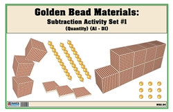 Golden Bead Materials (Quantity) Subtraction Activity Set #1 (A1-D1)