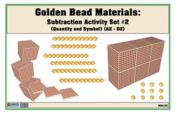 Golden Bead Materials (Quantity and Symbol) Subtraction Activity Set #2 (A1-D1)