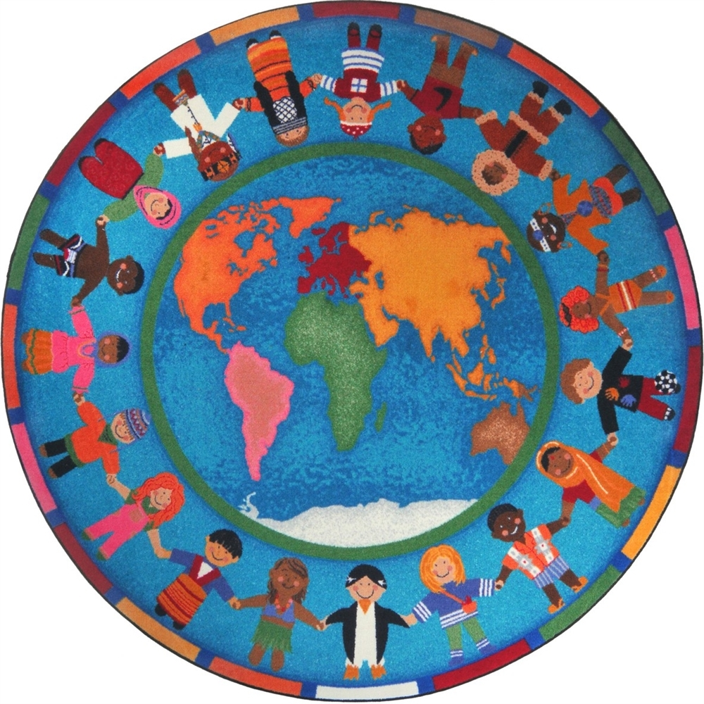 Montessori Classroom Carpet Hands Around The World Circle Rug