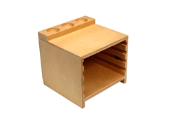Montessori Materials - Wooden Land and Water Form Trays w/ Cabinet