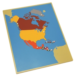Puzzle Map of North America (Premium Quality)