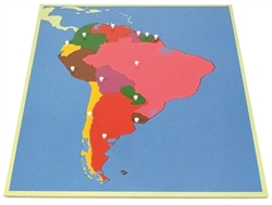 Puzzle Map of South America (Premium Quality)