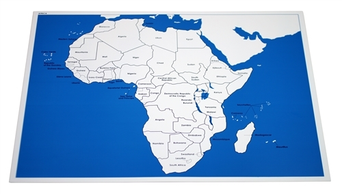 Montessori Materials Labeled Control Chart For Map Of Africa