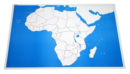 Unlabeled Control Chart for Map of Africa (Premium Quality)