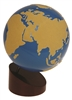 Sandpaper Globe of Land & Water (Premium Quality)