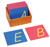 Montessori Language Materials: Sandpaper Capitals: D'Nealian, Print (Premium Quality)