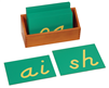 Montessori Language Materials: Lowercase Sandpaper Letters-D'Nealian Double-Print