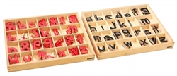 Small Movable Alphabets: Print (Black and Red) (Premium Quality)