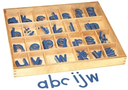 Small Movable Alphabets: Blue, Print (Premium Quality)