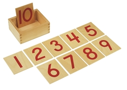 Wooden Cards for the Red and Blue Number Rods